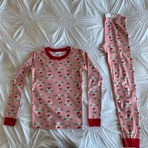 EUC Hanna Andersson Christmas Cat pajamas